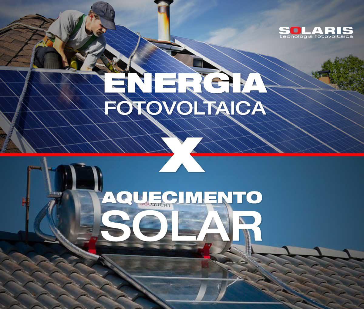 Diferenças entre Energia Fotovoltaica e Aquecimento Solar
