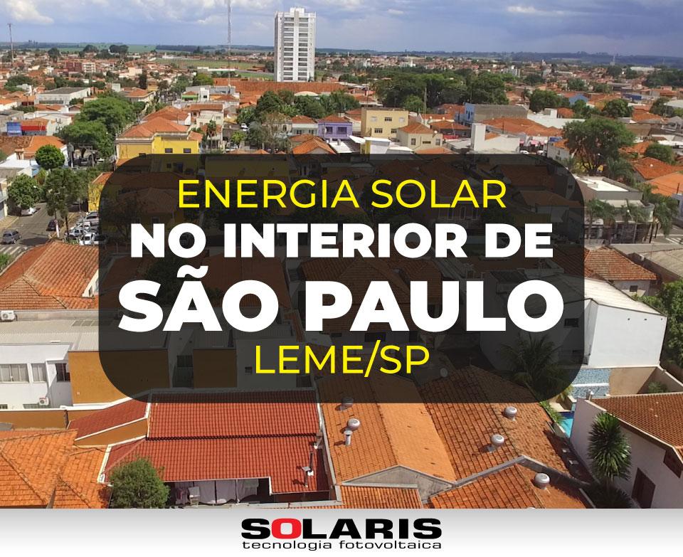 Energia Solar no Interior de São Paulo: Cliente Satisfeito de Leme/SP